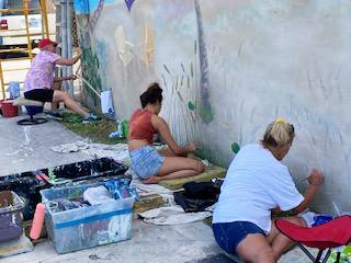 Mural crew